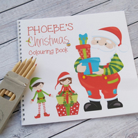 Personalised Christmas Colouring Book