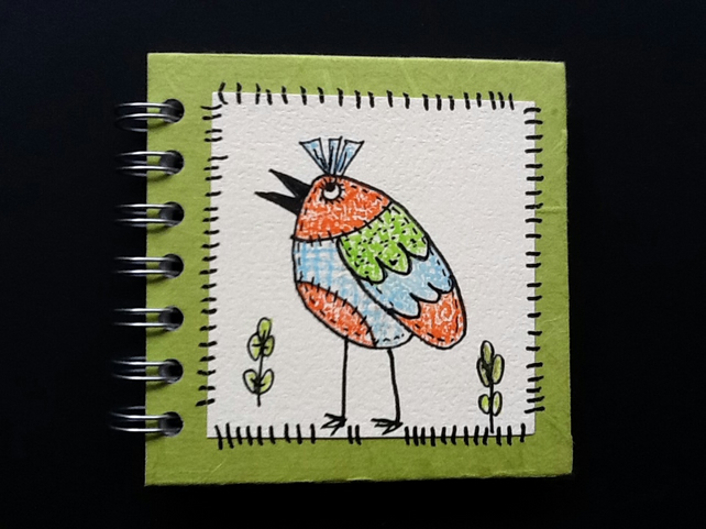 Doodly Bird Notebook or Sketchbook