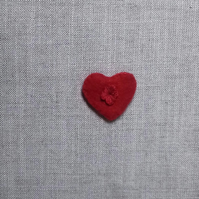 Hand embroidered Heart brooch