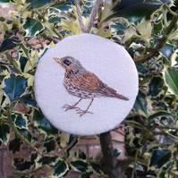 Fieldfare Bird Decoration