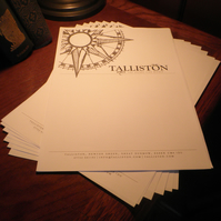 Official Talliston Stationery Set