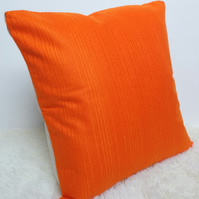 "Retro Cushion Cover, Original 60s 70s Fabric, 18""x18"" Orange Boho Campervan"