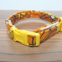 "Retro Fabric Dog Collar, Handmade, Small Collar (10""-12"") Wedding"