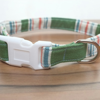 "Vintage Fabric Dog Collar, Handmade, Small Collar (10""-14"") Wedding"