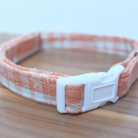 "Retro Fabric Dog Collar, Handmade, Medium Collar (14""-19"") Wedding"