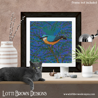 Fine Art Giclee Print - 'Nuthatch and Fir' - Unframed