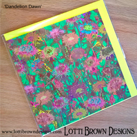Meadow Flowers Art Card, Blank Cards, Square Cards