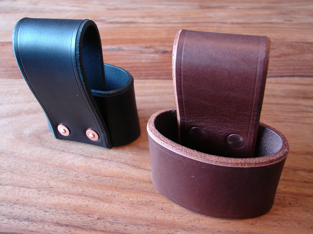 handmade belt loop Leather axe holster 2 colours and sizes