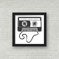 Retro PERSONALISED CASSETTE SONG Framed Print