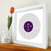 Kodaline - The One - Song lyric print - Framed song - First dance song - Wedding