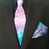 Silk Tie and Pocket Square Handkerchief Set