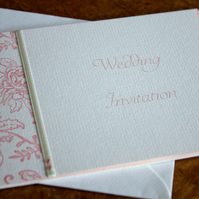 40 x Strawberries & Cream Personalised Wedding Booklet Invitation