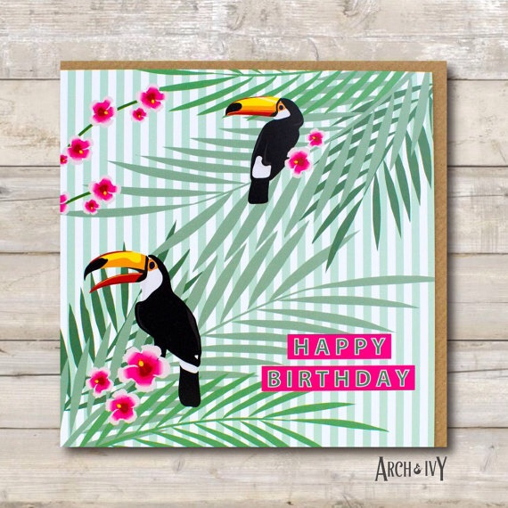 Toucan Happy Birthday Greeting Card