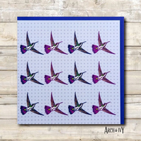 Hummingbird Print Greeting Card - Birthday Card