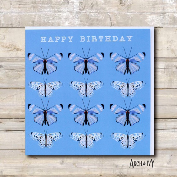 Butterfly Happy Birthday Greeting Card
