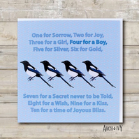 Magpie Baby Boy Greeting Card