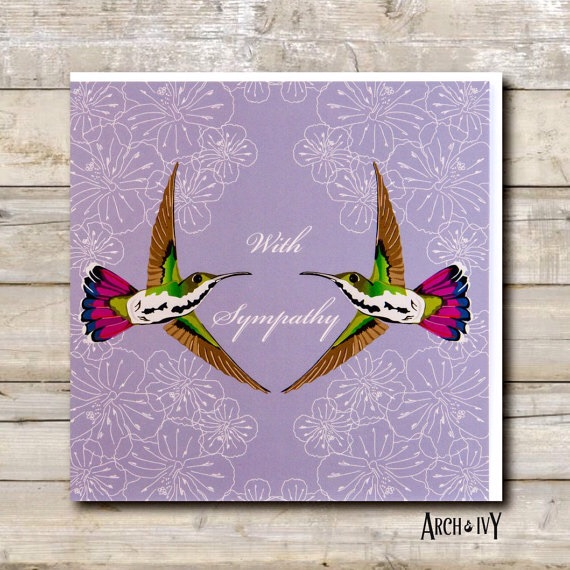 Hummingbird With Sympathy Greeting Card
