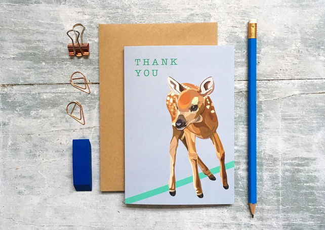 Deer Thank You Card - Deer Card