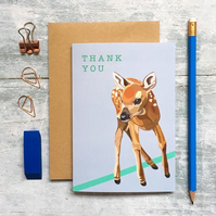 Deer Thank You Greeting Card