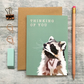 Raccoon Thinking of You Card - Raccoon Card