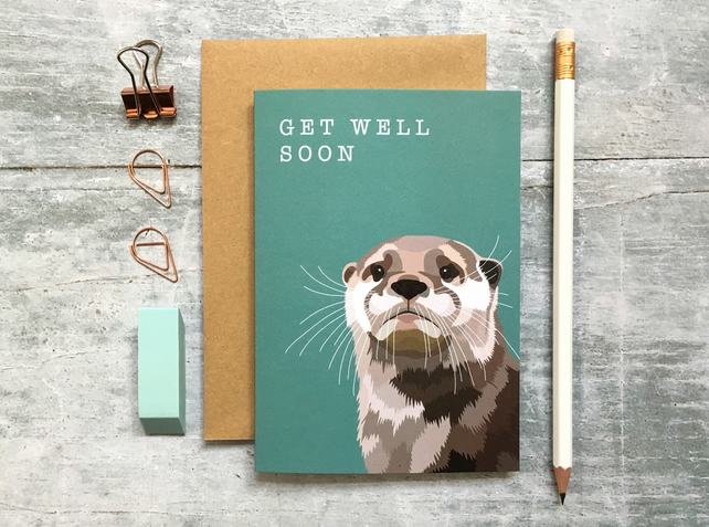 Otter Get Well Soon Card - Otter Card