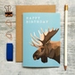 Moose Birthday Card - Moose Card