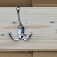 Triple Hat and coat rack. Two key hooks, Recycled, rustic, timber, hand made
