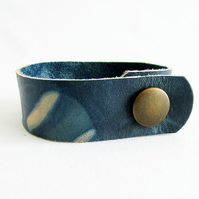 Hand-Dyed Indigo Leather Cuff INDI 0248