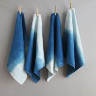 INDI 200 Beautiful Indigo Dip Dyed Napkins