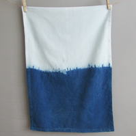 INDI 201 Hand-dyed Organic Cotton Indigo Tea towel