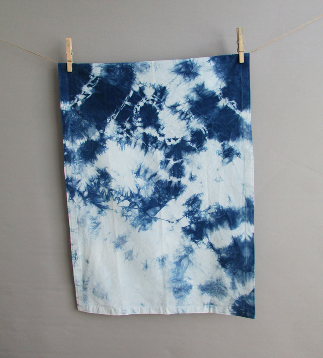 INDI 201 Unique Hand-dyed Organic Cotton Tea Towel