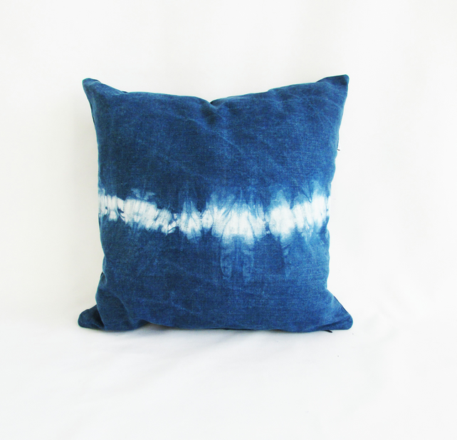 INDI 256  Hand-dyed Unique Shibori Cushion