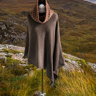 Brown and rust cowl. Wool infinity scarf. Neck Warmer. Brown wool snood.