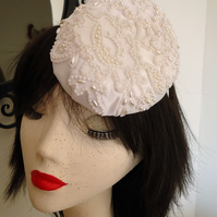 Satin and Pearl Percher Hat