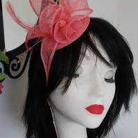 Sally Coral Fascinator