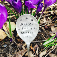 Personalised Vintage Spoon Garden Marker. Vintage Spoon Herb and Plant Marker