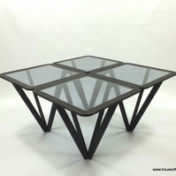 Coffee Table, Large Glass Table, Laser Cut Coffee table, Contemporary Designer T