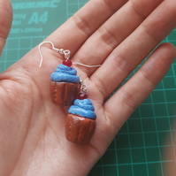 Cup cake clay earrings