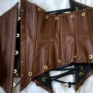 Add-on item for Chestnut Brown Leather Underbust Corset - Steampunk