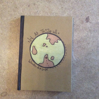 Hand decorated, A5 Hardback notebook