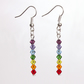Swarovski Elements Chakra Coloured Crystal Earrings