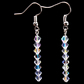 Crystal Clear Ab Straight Earrings using Swarovski Crystal