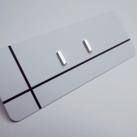 Mini Bar Stud Earrings (Small)