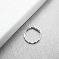 Sterling Silver Tube Bar Minimal Stacking Ring
