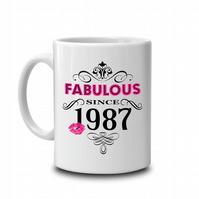 Fabulous since... personalised birthday Mug (add any year)