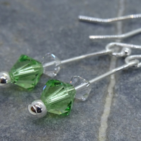 Earrings, Sterling Silver Swarovski –E07