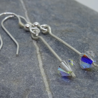 Earrings, Sterling Silver Swarovski –E08