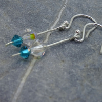 Earrings, Sterling Silver Swarovski –E011