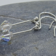 Earrings, Sterling Silver Swarovski –E016