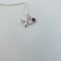 Sterling Silver Bee Design Pendant-Bees05